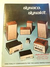 Dynaco / Dynakit Product Brochure 18pgs PAS-3X MK3 ST-70 A-25*Original*
