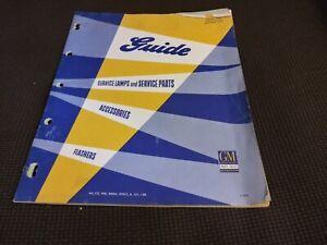 Vintage General Motors Guide Lamp Service Parts Catalog