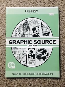 GRAPHIC SOURCE CLIP ART BOOK~HOLIDAYS. Order No. GS-305. Vintage 1986