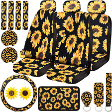 Car Seat Covers For Women With Sunflowers Full Set Auto Steering Wheel  Armrest