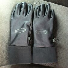 Seirus 168196 Mens Polartec All Weather Leather Gloves Black Size Medium
