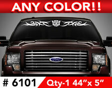 """TRANSFORMERS AUTOBOT TRIBAL WINDSHIELD DECAL STICKER 44""""wx5  Any 1 color"""