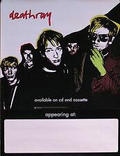 Deathray 2000 Rare Original Tour Promo Poster