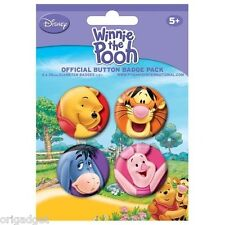 WINNIE THE POOH BADGE PINS OFFICIAL BADGE PACK 80394
