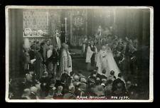 Royalty ROYAL WEDDING Duke & Duchess Kent 1934 Faults RP PPC