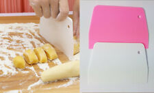 2 Pack Icing Scrapper Pizza Pastry Cookie Dough Divider/Cutter - Pink & White