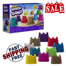 Kinetic Sand Castle Containers Creative Magical Flowing Kids, Pack of 10-Colors