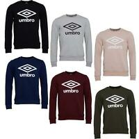 UMBRO RETRO SWEATSHIRTS CREW NECK JUMPER PULLOVER ACTIVE PINK NAVY BLACK GREY