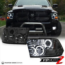 12 13 14 15 16 CCFL Halo Projector Smoke Headlight LED 2009-2017 Dodge RAM 1500