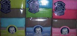 New Gerber 4 pk Solid Diapers, Baby Shower, Burp cloth, Diaper Cake
