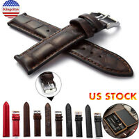 Top Layer Genuine Leather Stainless Steel Pin Clasp Watch Band 4-20mm With Tools