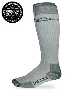 Drake Mens 80% Merino Wool Full Cushion Tall Long Boot Outdoor Socks 1 Pair Pack