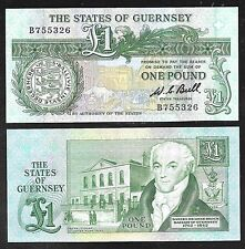 Guernsey Paper Note - One Pound Note (1980)  P48a - CU