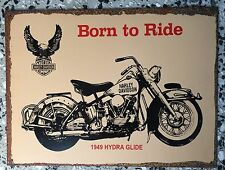 HARLEY Born to Ride Rustic Tin Sign 400mm x 300mm