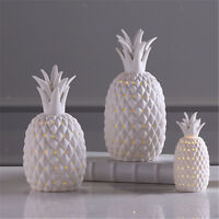 Modern Ceramic Pineapple LED Light Craft Desk Ornament Home Room Decor