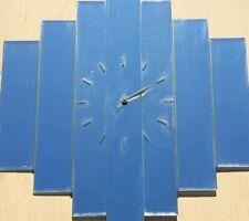 "Decorative Art Retro Slat Mirror Clock 28"" X 24"""
