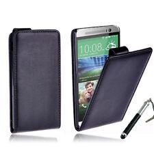 BLACK Premium Flip Stand Leather Case Cover For New HTC ONE MINI 2 (M8)