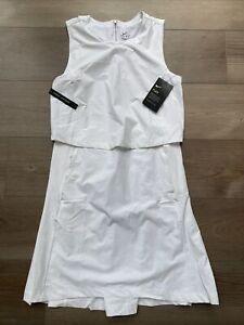 Womens Size Small Nike Golf Flex Ace Tennis Dress White CI9806-100