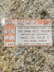 1994 Chavez vs Taylor 2 MGM Grand Las Vegas Casino Boxing Ticket Stub
