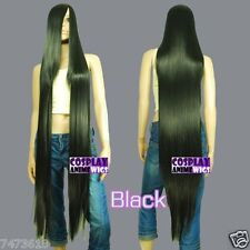 50 inch Heat Resistant Black Straight Extra Long Cosplay Wig Hair Synthetic Wigs