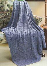 Knitting Pattern ~ Diamonds in Denim Throw Afghan ~ Instructions