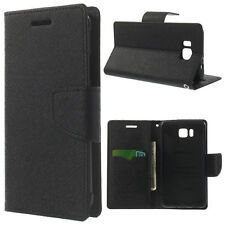 Korean Mercury Fancy Diary Wallet Case Cover for Samsung Galaxy Alpha - Black