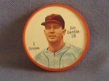 1962 Salada Tea Junket Baseball coin  Jim Gentile  1B  Orioles  # 1
