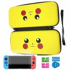 Pikachu Carrying Nintendo Switch Case Console Zipper Bag Shell Screen Protector