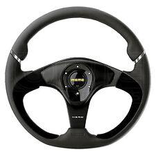MOMO Nero Steering Wheel - Leather - Alcantara Inserts - 350mm
