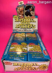 3 1981 Fleer Star Stickers Pack Lot Nolan Ryan/Pete Rose/Schmidt/Brett/CL/Carew?