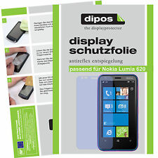 2x Nokia Lumia 620 Schutzfolie matt Displayschutzfolie Folie Antireflex dipos