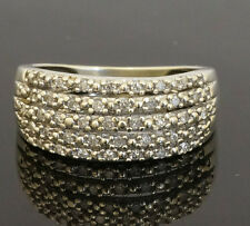 9Carat White Gold Diamond (0.20ct) Cluster Ring (Size M 1/2) 8mm Width