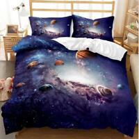 3D Planet Galaxy Star Bedding Set Doona Quilt Cover Duvet Cover Pillow Case 3#