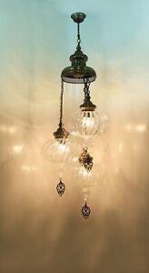 TURKISH LAMP,pyrex pendant vintage hanging ceiling lamp,turkish pyrex chandelier