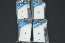 Lot of 4 Leviton White Telephone 8-Wire RJ11 Type 625B4 Phone Jack Wallplate