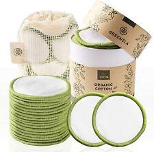 Lingettes Demaquillantes Lavables Bambou Coton 100% Bio Sac a Linge Zero Dechet