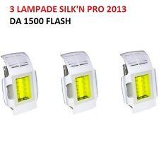 SILK'N PRO 2013 CARTUCCIA RICAMBIO 3 LAMPADE Catridges SILKN ! DA 1500 FLASH