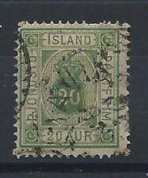 Islande Timbre Service N°8 Obl (FU) 1876/1901