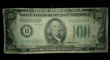 More details for $100 dollar bill usa 1934  benjamin franklin federal reserve new york