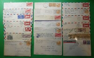 21 airmail covers, 1930s-1940s,some with letters, censor markings etc  MH
