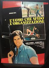 MANIFESTO CINEMA - L'UOMO CHE SFIDO' LE ORGANIZZAZIONI - H. ROSS-1975-POLIZIESCO