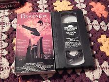 Dragon Fire + Dead Lock (VHS x 2) Roger Corman Presents) L.A. - 2050 A.D.)  LOT