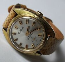 Vintage Ladies OMIKRON Supershock Gold Plated 17J UT6365N Swiss Made From 60's
