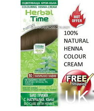 100%25 NATURAL BROWN HENNA COLOUR CREAM HERBAL HAIR COLORANT DYE READY TO USE