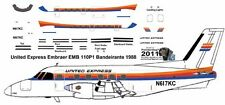 United Express Embraer EMB 110 Bandeirante decals for Duarte 1/144 kits
