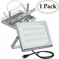 100W LED Flood Light US Plug Waterproof Spotlight Garden Outdoor Lamp Cool White