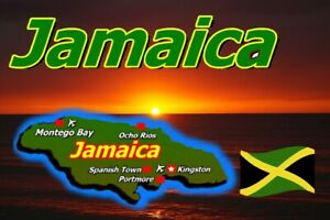 JAMAICA MAP / FLAG - SOUVENIR NOVELTY FRIDGE MAGNET - SIGHTS / BRAND NEW / GIFTS