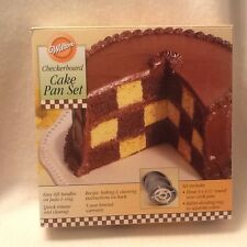 Wilton Checkerboard Cake Pan Set Round Non Stick Pans Baking