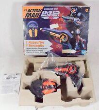 Action Man Assault Set Lazer Tag pistola laser +bersaglio +box hasbro '98 -00BF