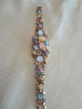 Fabulous Vintage Crawford 21 Jewels Wristwatch Jeweled Bracelet